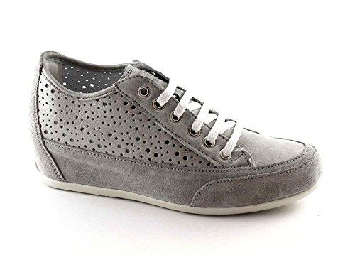 IGI & CO 77860 acciacio zapatos grises mujer zapatillas de deporte cordones cuña interior perforada Grigio
