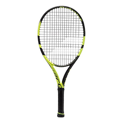 Babolat 2018 Pure Aero Tennis Racquet - Quality String (4-1/4) (Best Tennis Racquet For Spin 2019)