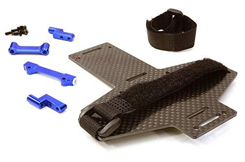 Integy RC Model Hop-ups C26870BLUE Machined Battery Tray w/Composite Plate for Vaterra Twin Hammers 1.9 Rock Racer