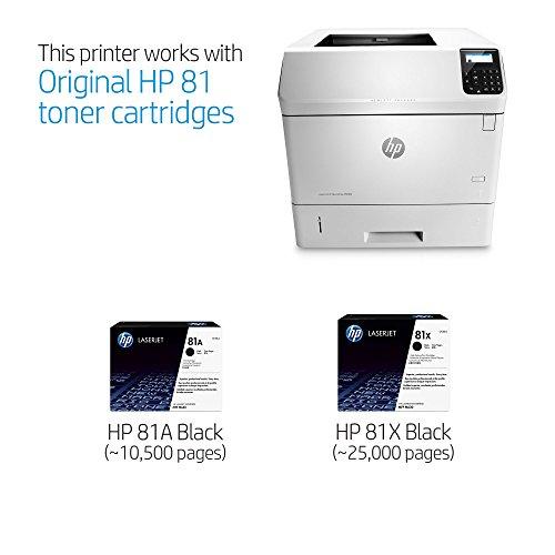 HP Monochrome LaserJet Enterprise M605n impresora con firmware HP FutureSmart, (E6B69A)