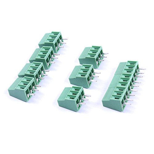 Mount Block - Atoplee 30pcs 3 Pole 2.54mm Pitch PCB Mount Screw Terminal Block Connector