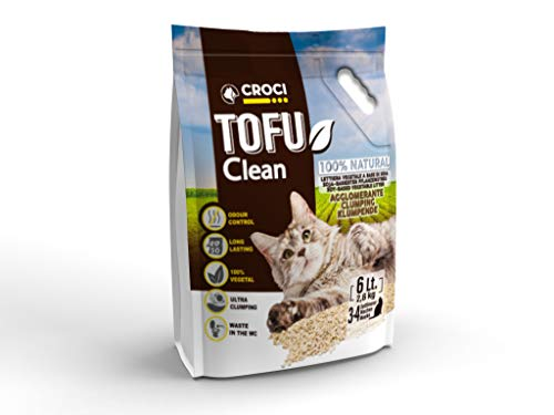 Croci - Arenero Tofu Clean, 6 litros, 2,6 kg