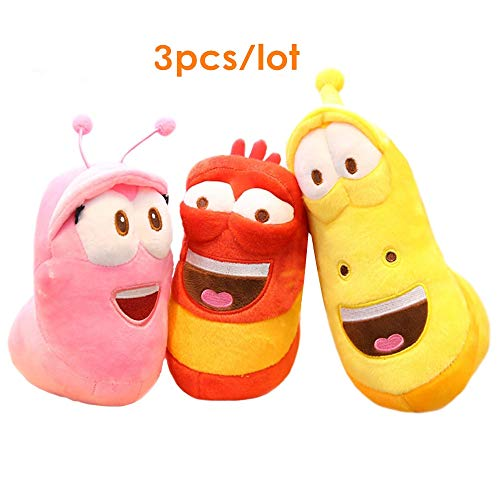 Groco Movie&TV Toys - 3pcs/lot Korean Anime Fun Insect Slug Creative Larva Plush Toys Cute Stuffed Worm Dolls for Children Birthday Gift Hobbies 1 PCs from Groco