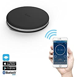 iLuv SmartShaker Award Winning App-Enabled Portable Travel Alarm Shaker with vibration, ring tone, and combination option - compatible with iPhone, iPad, and Samsung Phones (Black)