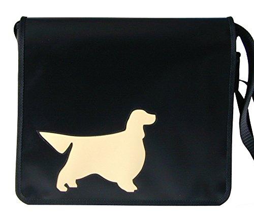 Schultertasche Hundemotiv Elfenbein Gorden Setter H 32, B 36, T 11 cm