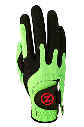 Zero Friction Men's Golf Gloves, Right Hand, One Size, Lime Green