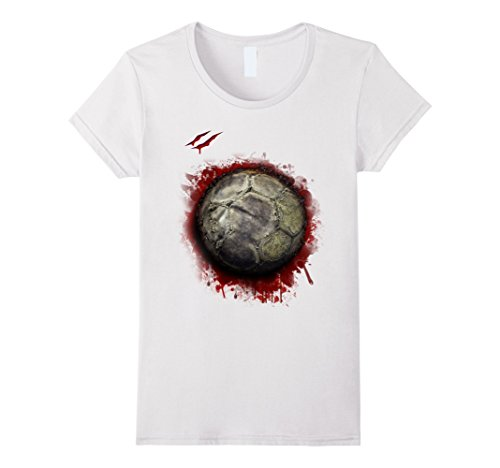 Womens zombie soccer player tshirt halloween 2017 Small White