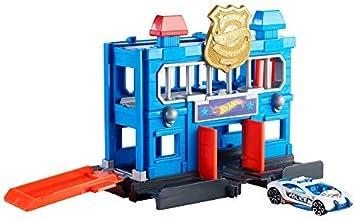 Mattel Hot Wheels-City Escape de la estación de policía, pistas de coches de juguetes niños +4 años, multicolor FNB00 , color/modelo surtido