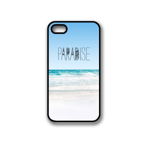 Paradise Beach Hipster Quote iPhone 4 Case Fits iPhone 4 & iPhone 4S