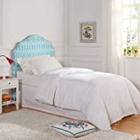 Better Homes and Gardens Trellis Upholstered Transitional Synthetic/Wood Indoor Headboard for Boys and Girls, Multiple Sizes and Colors - Full/Queen, Irongate Teal