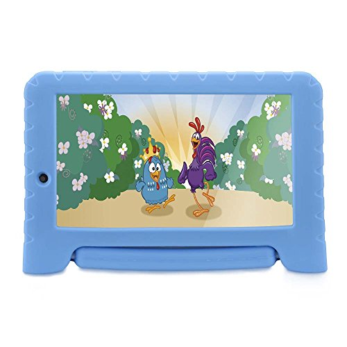 "Tablet Galinha Pintadinha Plus Quad Core 1 GB RAM Wi-Fi Android, Multilaser, NB282, 8 GB, 7"", Azul"