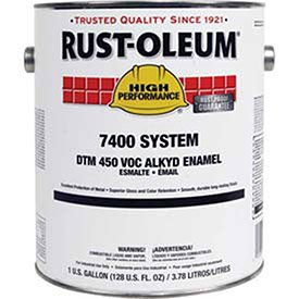 Rust-Oleum 634300 High Gloss Black High Performance 7400 System Less than 450 VOC DTM Alkyd Enamel Paint, 5 gal - Stain Alkyd