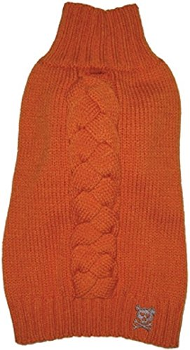 Cool Cable orange Sweater By RuffLuv Chest 16