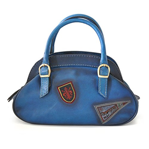 Pratesi Handbag Giotto in cow leather - Bruce Blue