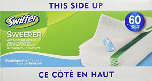 Swiffer Sweeper Wet Cloth Refil, 60 Count (Wet Sweeper Refills compare prices)