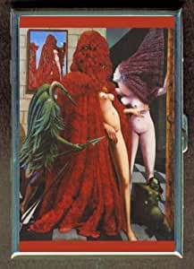 MAX ERNST TOPLESS BRIDE ID Holder, Cigarette Case or Wallet: MADE IN USA!