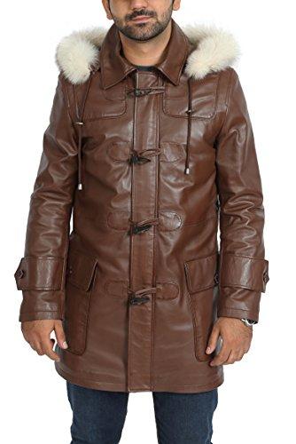 Homme Cuir En Zip De Up Ian Marron 4 Designer Amovible Veste Capuche 3 Manteau Duffle 5qEUdWnEw