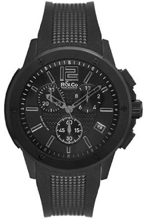 R&Co Herren - Armbanduhr Chronograph Quarz RGS00005-46-19