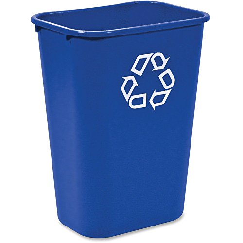 Rubbermaid 295773BLUE Recycle Container, 41-1/4 Qt, 20''x10''x15-1/4/'', Blue by Rubbermaid