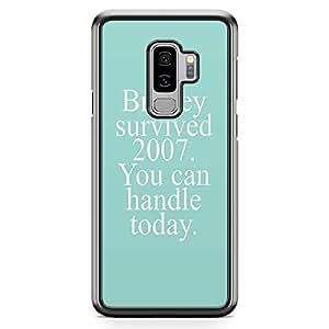 Samsung Galaxy S9 Plus Transparent Edge Phone Case Britney Phone Case Survive Phone Case Pun Samsung S9 Plus Cover with see through edges