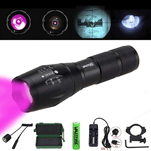VASTFIRE Focusable Infrared Flashlight IR Light Thermal Hog Hunt Fox Rat Night Vision Hunting NOT Regular Flashlight BUT Infrared Illuminator