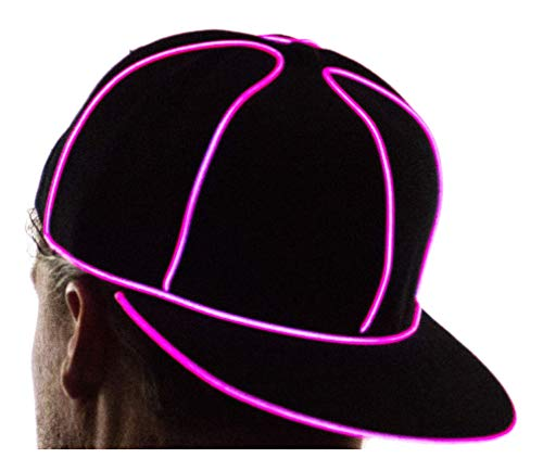 Neon Nightlife Light Up Snapback Hat Boys & Girls LED Baseball Accessory, Pink