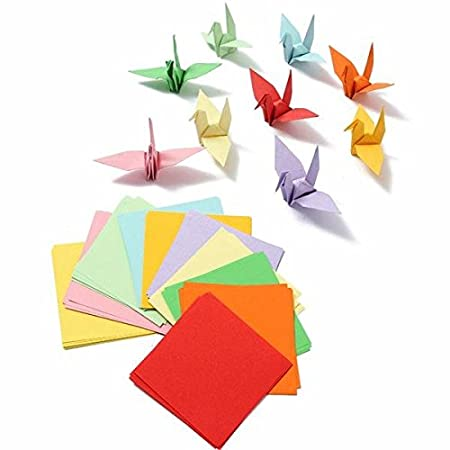 Bazaar 100pcs 8x8cm Brand New Origami Square Paper Double Sided