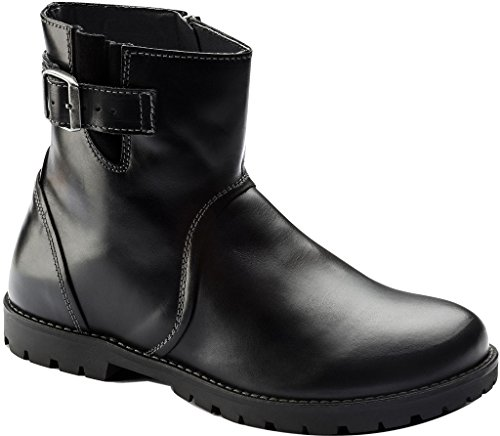 Birkenstock Women's Stowe Boot Black Leather Size 39 M EU by Birkenstock