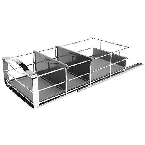 simplehuman 9 inch Pull-Out Cabinet Organizer, Heavy-Gauge Steel (Pull Out Organizer)
