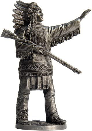 scale 1//32 WW-9 The Indian with Spear Tin Toy Soldiers Metal Sculpture Miniature Figure Collection 54mm
