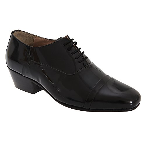 ded Cap 5 Eyelet Oxford Patent Coated Leather Shoes (10 US) (Black) ()