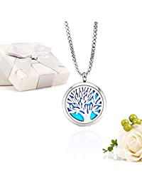 Essential Oil Diffuser Aromatherapy Necklace,Stainless...
