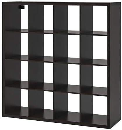 Ikea New KALLAX - Estante, Color Negro y marrón