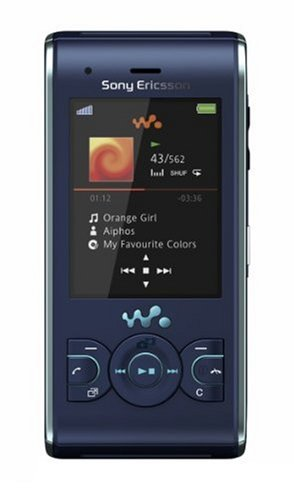 Sony Ericsson W595i QuadBand Walkman Cellular Phone - 3.15MP Camera W595 - International Version with No Warranty (Blue)