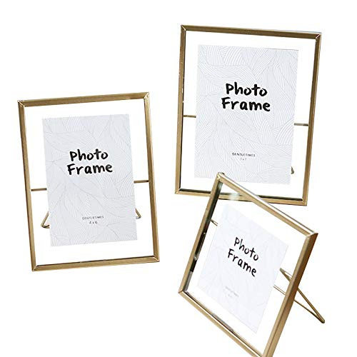 s Photo Frame Collection Simple Metal Geometric Picture Frame with Plexiglas Cover Includes 4