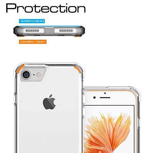 """iPhone 7 Hülle, HICASER PC + TPU Hybrid Bumper Case Schutzhülle Crystal Transparent kratzfeste Tasche für iPhone 7 4.7"""" Klar"""