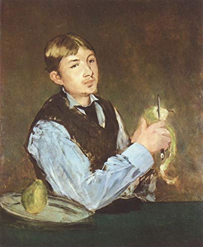 Home Comforts Peel-n-Stick Poster of Manet, Edouard - Pears Peeler (Portrait of Léon Leenhoff) Vivid Imagery Poster 24 x 16 Adhesive Sticker Poster Print