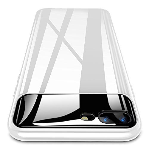 iPhone 8 Plus Case, iPhone 7 Plus Case, RANVOO [Rainbow Series] Hard Ultra Thin Slim Case Anti-Scratch with [9H Tempered Mirror + Glossy Coating] Full Protective for iPhone 8 Plus/7 Plus, Pearl White