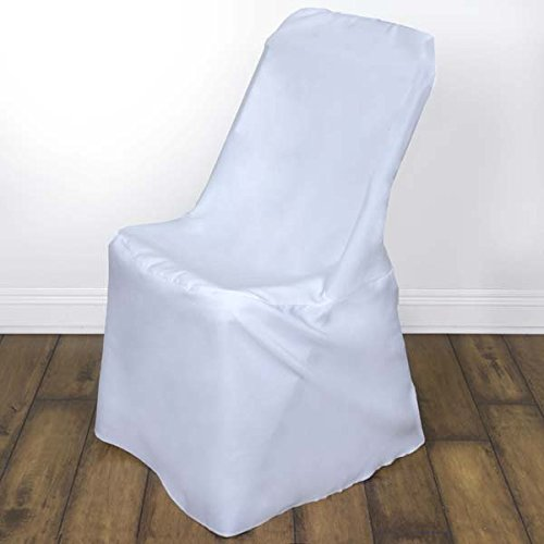 Efavormart 100 PCS White Lifetime Folding Chair Cover Dinning Chair Slipcover for Wedding Party Event Banquet ()