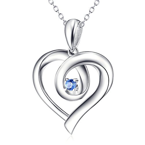 You Are The Only One In My Heart 925 Sterling Silver Pendant Necklace, Rolo Chain