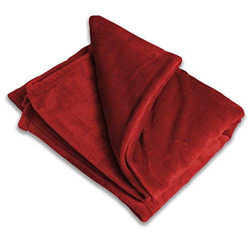 (Luxury Fleece Throw Blanket - Red Available - Ultra-Plush Throw Blanket - Perfect Polyester Throw Blanket)