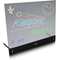 PYLE Erasable Desktop Illuminated LED Writing Board with Remote Control & 8 Fluorescent Markers (PLWB2030)