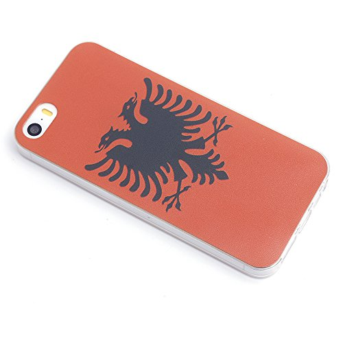 iProtect Apple iPhone 5 5s SE Soft Case Housse en TPU 0,3mm Albanie