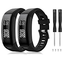 Junboer Compatible with Vivosmart HR Watch Band, Soft Silicone Replacement Watch Strap Sport Wristband with Screwdriver for Vivosmart HR SmartWatches(NOT for Vivosmart HR+), Only for 4PK