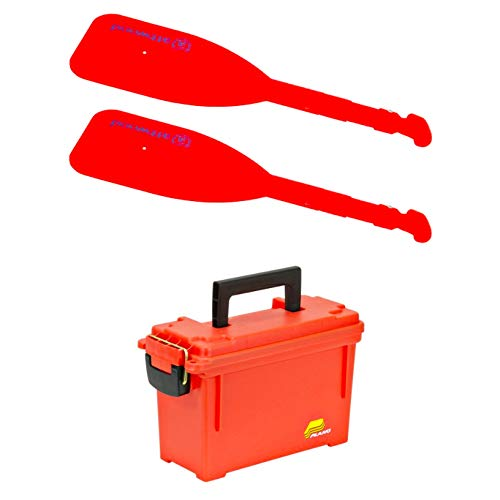 Plano Bundle Includes 1312 Dry Storage Emergency Marine Box, Orange and 2 Attwood Telescoping ()