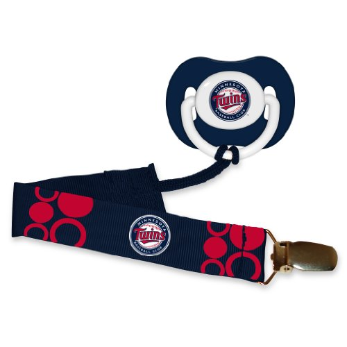 Pacifier with Clip Minnesota Twins