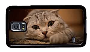 Hipster Samsung Galaxy S5 Case top cover cute cat eyes PC Black for Samsung S5