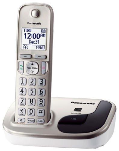 New Panasonic KX-TGD210N DECT 6.0 Expandable Digital Cordless Phone w/ 1 (Expandable Key Coil With Clip)