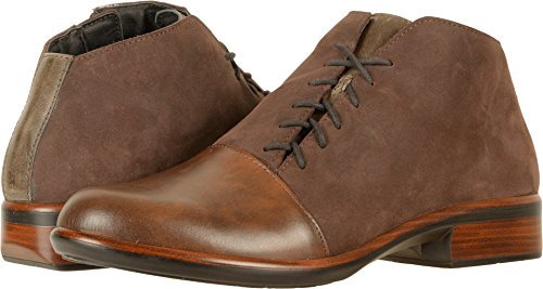 Naot Footwear Women's Camden Pecan Brown Leather/Coffee Bean Nubuck/Vintage Fog Leather Boot