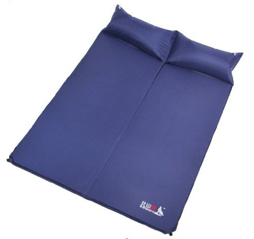 Porpora Double Outdoor Automatic Blow-up inflating Damp proof Sleeping Camping Mat Mats (Sapphire)